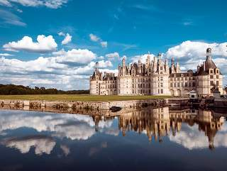 View of the castle of Chambord